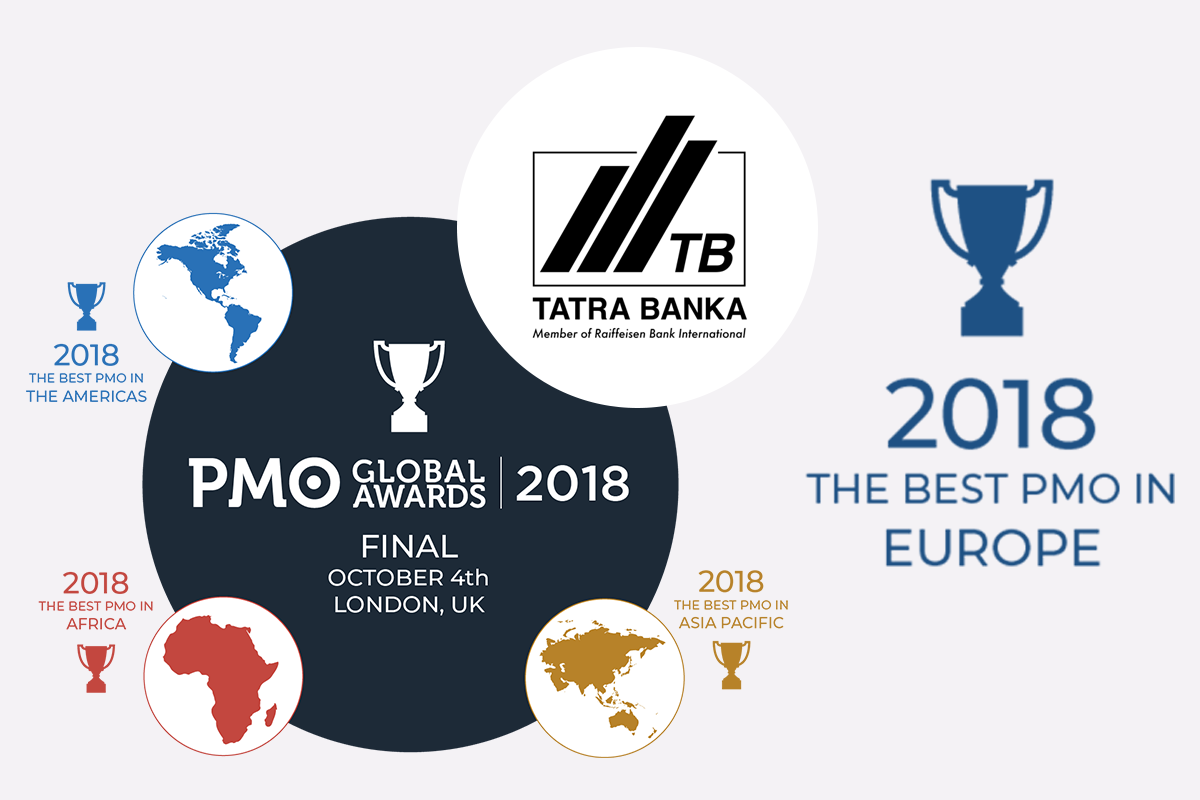 Tatra Banka - Europe's PMO of the Year 2018 - PMO Global Awards - FuturePMO